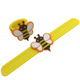 Customized Silicone Slap Wristband Rubber Slap Bracelets With Bee Shape Charm