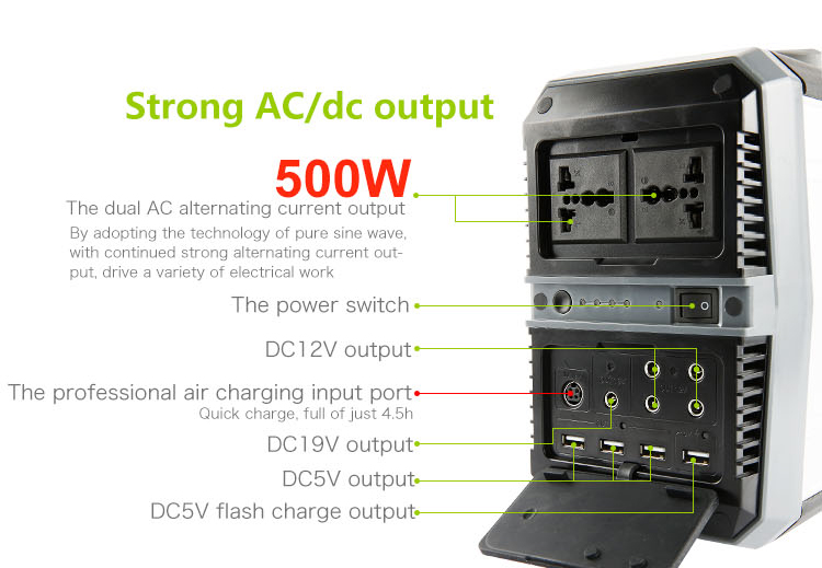 New Arrival AC Solar Power Generator 300W/500W/1000W