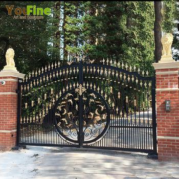 Decorative House Door Luxury Wrought Iron Gate Design For