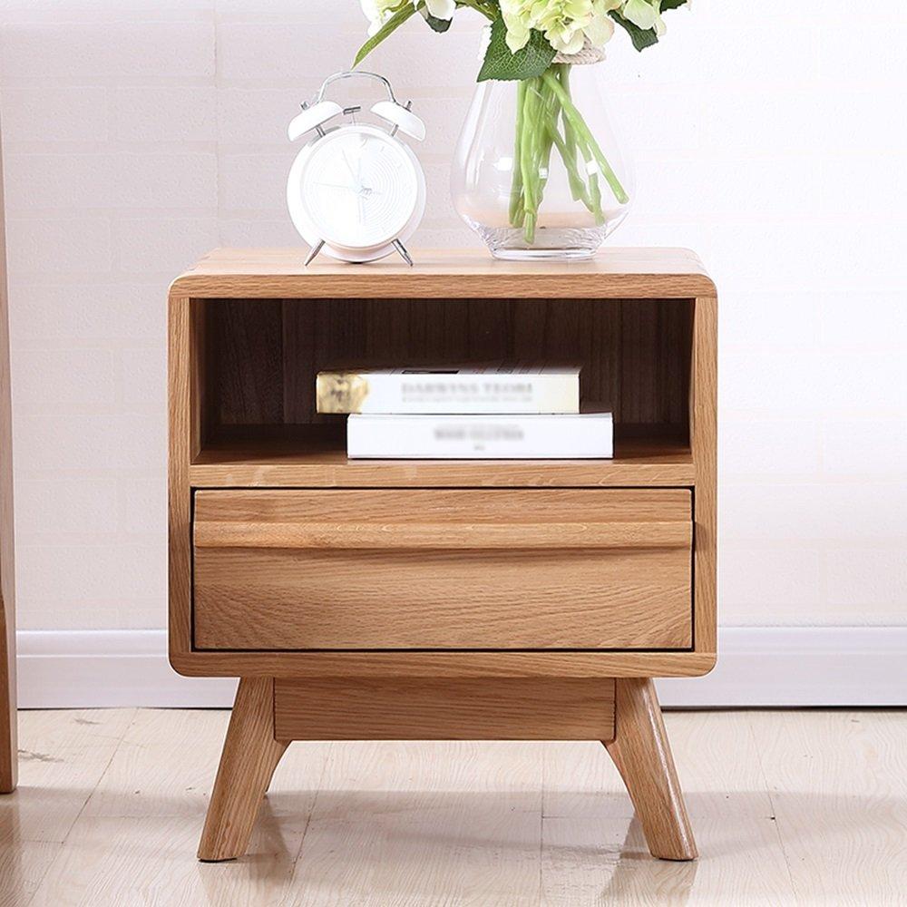 AiHerb.LT nightstand Bedside Cabinet Solid Wood Locker Bedroom Corner Cabinet Oak Bedside Table Furniture