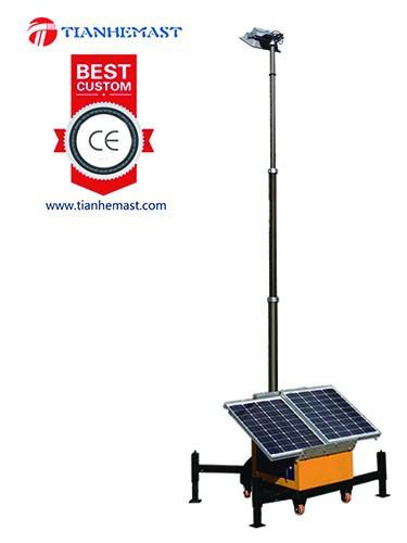 Mobile Solar Led Light Tower Pneumatic Telescoic Metal Halogen ...