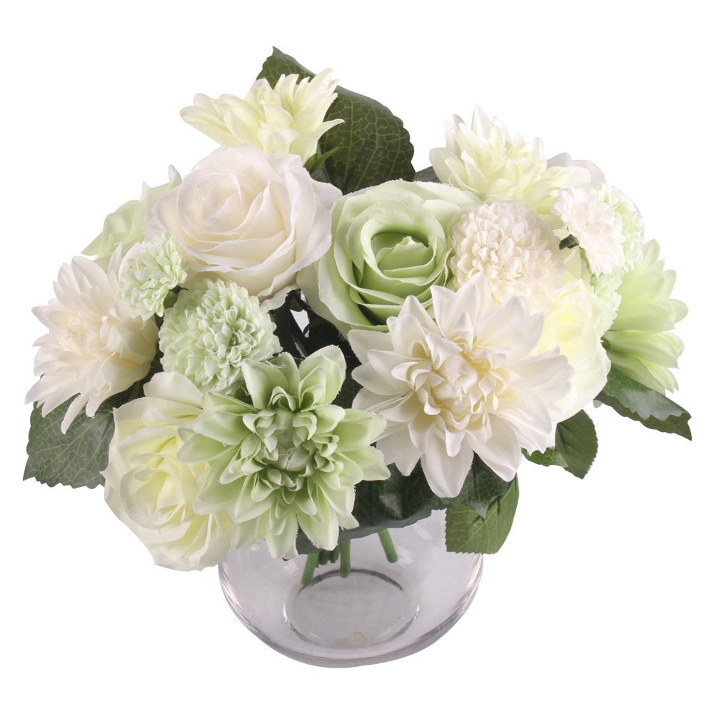 Cheap bunch of rose flowers find bunch of rose flowers deals on get quotations jarown 1 bunch 6 pcs artificial rose dahlia daisy flower bouquet bride bridesmaid holding flowers for izmirmasajfo