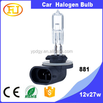 880 881 890 894 886 Car Halogen Bulb Clear Super White 3800k 6000k - Buy  881 Halogen Bulb,12v 27w Automotive Halogen Bulb,881 12v 27w Automotive