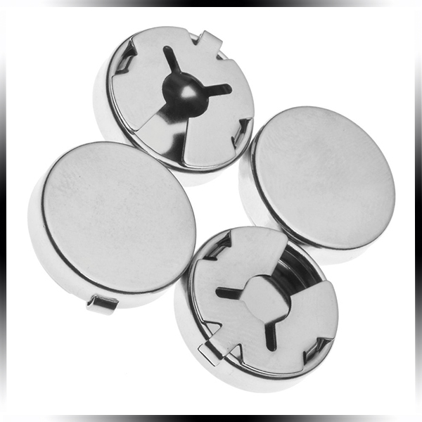 4f742fdeb60 Get Quotations · Gold Plating or Silver Plating Brass Clip On Button Covers