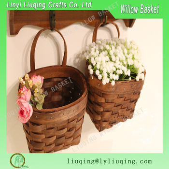 Factory Wholesale Wall Hanging Small Round Wood Chip Gift Basket Storage Basket With Handle Home Decor Buy Wood Chip Gift Baskets With