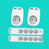 CE GS TUV ROHS german european eu adapter/germany german plug with socket/2 usb port wall socket
