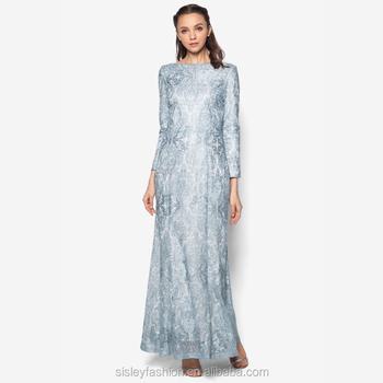New Pattern Long Maxi Dress Abaya Dubai Style Dubai Muslim Wedding ...