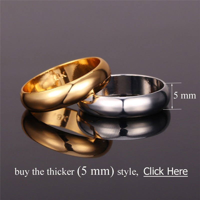 40687461e13 Gold Rings With 18K Stamp Quality Real Gold Plated Women Men Jewelry ...