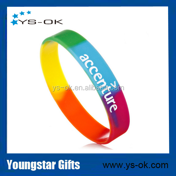Wholesale personalized imprinted eco-friendly silicone wristband