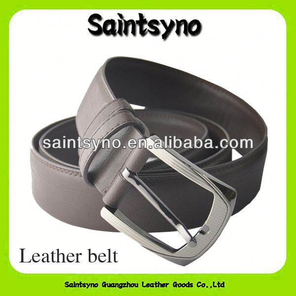 164 Casual style brown leather belts with removable buckles