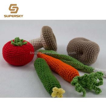 Fruta Ganchillo Del Juego Crochet De Verano Verduras Alimentos Rj54AL