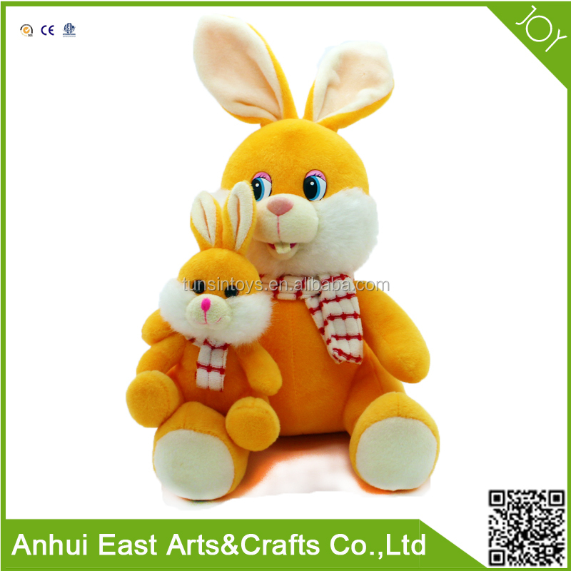 2017 HOT SELL MAGNET CUSTOM STUFFED RABBIT WITH HER KIDS FEEL COMFORTABLE FOR FESTIVAL GIFT