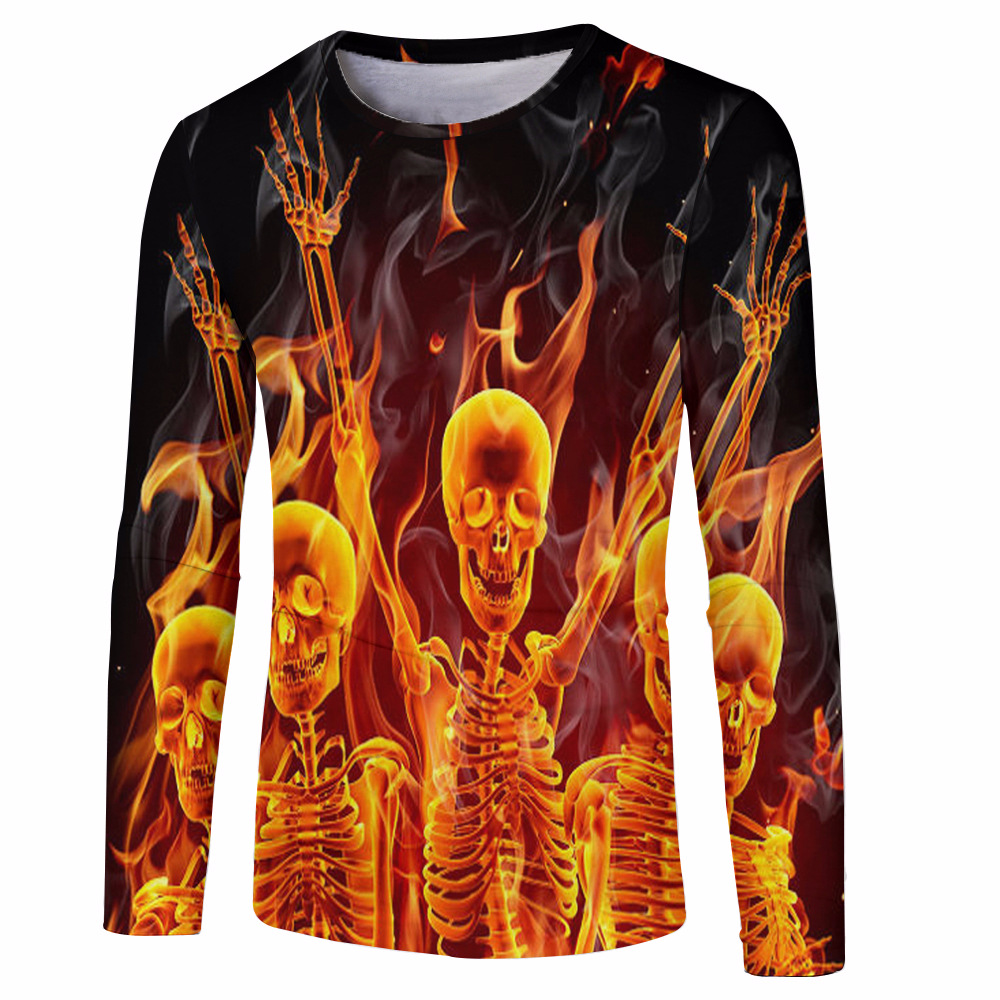 C03 2018 Sublimation T Shirt Template Fire And Skull Mens Long Sleeves T Shirt Buy Blank Sublimation T Shirt Wholesale Sublimation Teddy Bear T Shirt Printing T Shirt Sublimation Product On Alibaba Com