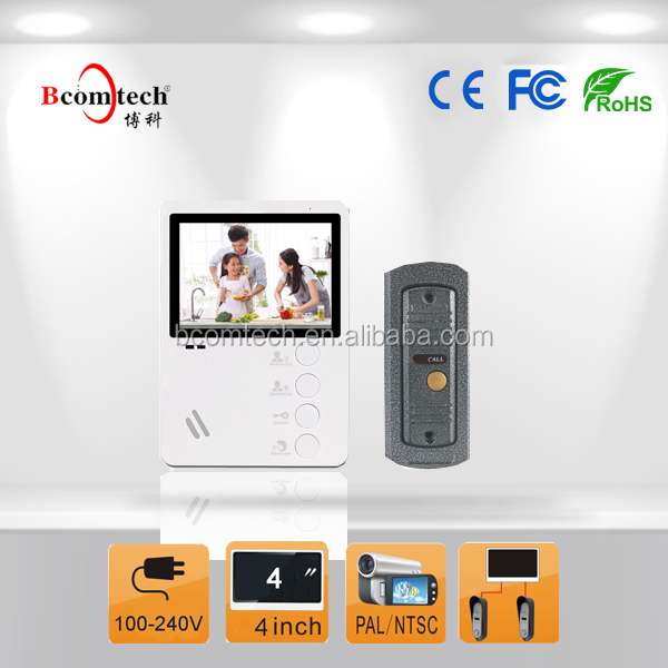 4 inch wired video door phone on hot sale / OEM available