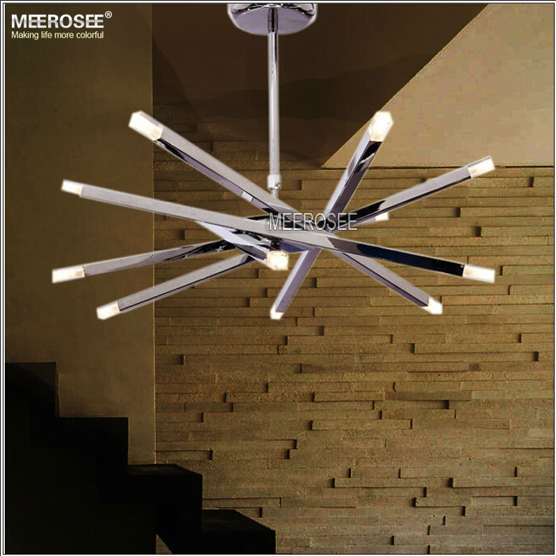 Contemporary Metal Pendant Light Led Hanging Light Fixture For ...