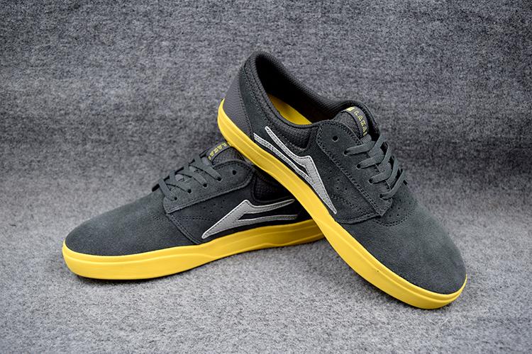 2016 Fashion Teenagers Board Shoes LAKAI Black Anti Fur Boy Hard Wearing Deck Shoes new design