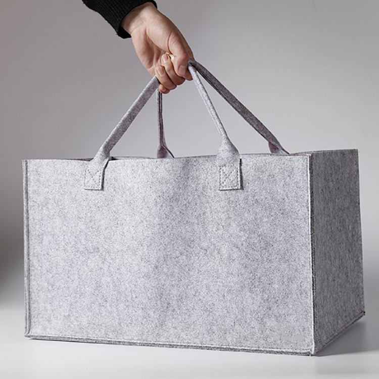 Wholesale  Customized reusable eco-friendly hand made felt tote bag