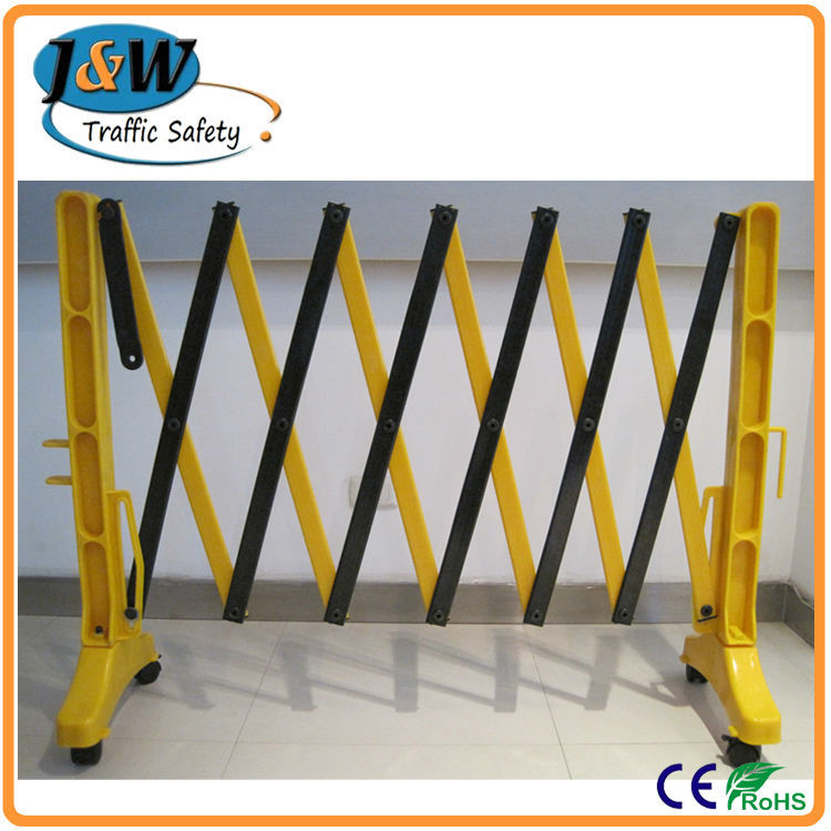Yellow 3.9 Meters Retractable Plastic Safety Folding Barrier Fence ...