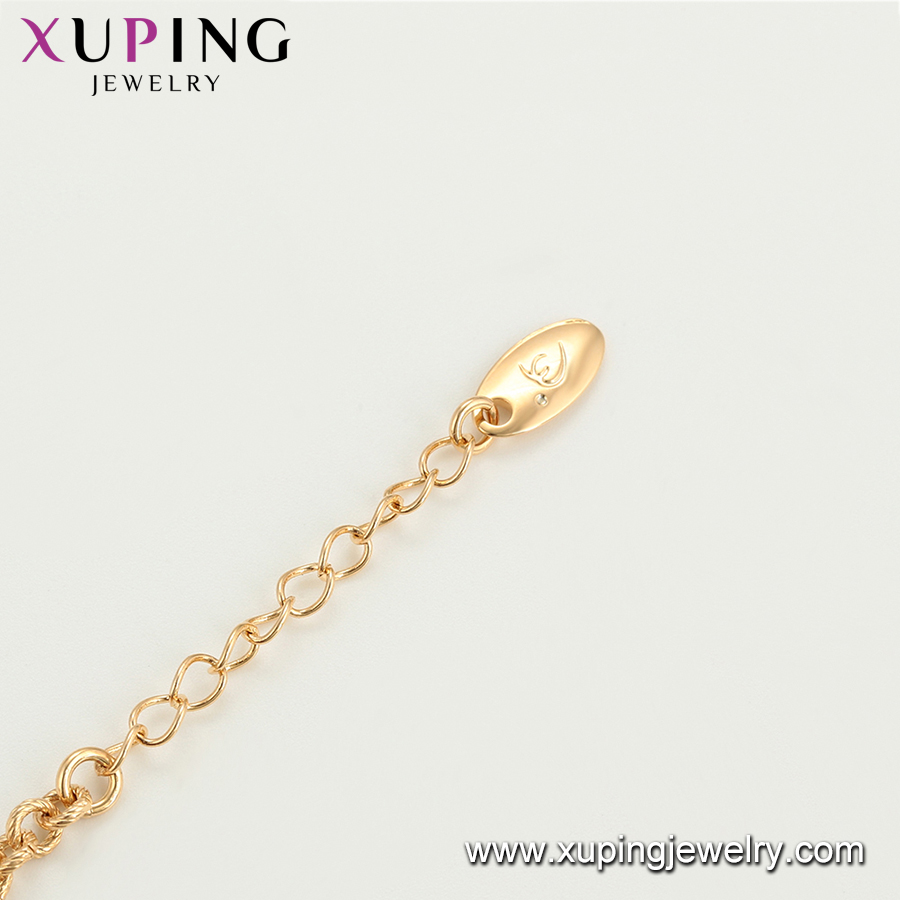 75935 Xuping hight quality gold plated heart and star shape girls vogue diamond jewelry charm bracelet