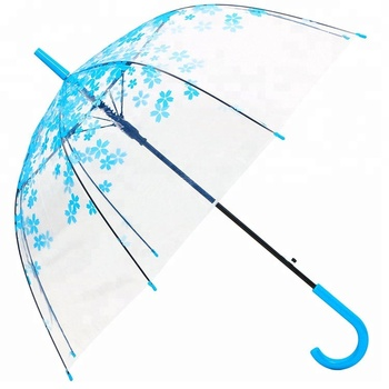 J handle straight clear victoria secret birdcage umbrella