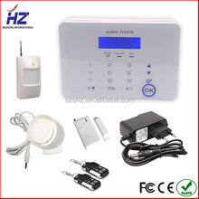 SMS alarming LCD touch screen mini gsm home security alarm system