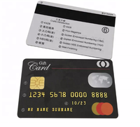 Double Side Printing Full Color Memory Cards PET Blank Contact IC Chip Bank Card