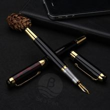 masculinity good quality heavy metal fountain pen with logo custom