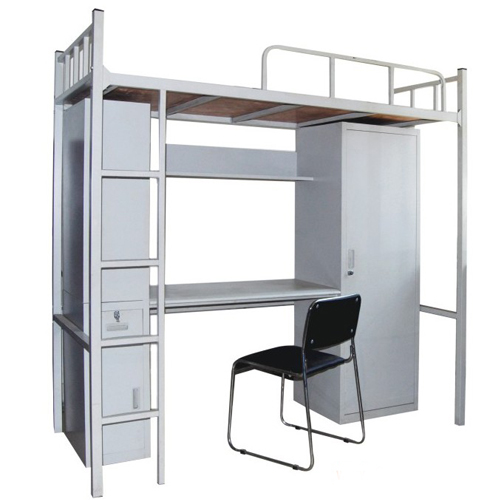 Dormitory furniture college student use steel bed with table and locker