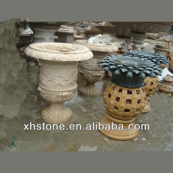Piedra al aire libre maceta para al por mayor decoraci n - Macetas de piedra para jardin ...