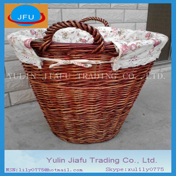 White Wholesale Wicker Laundry Basket Baskets With Handle