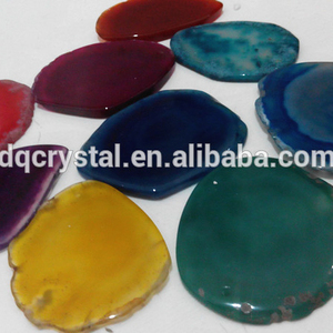 natural rock quartz clear crystal rough round agate pieces slab agate slice for sale
