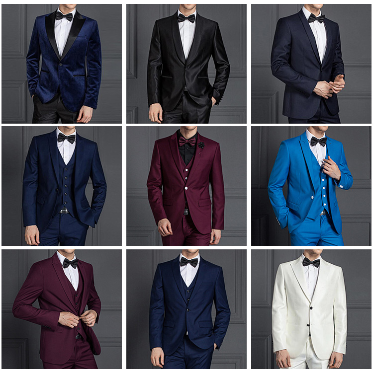 Groom Wedding Dress Latest Coat Pant Designs 3 Piece Coat Pant Men