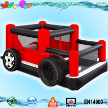 cheap commercial used inflatable truck theme bouncy castle combo for sale