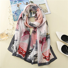 Manufacture Women 100% Silk Scarf With New Printing