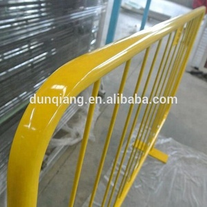 Flat Feet Crowd Control Barrier With 25mm Round pipe For Road Safe