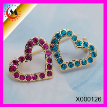 engagement 2015 heart shape rhinestone paved magnetic brooch