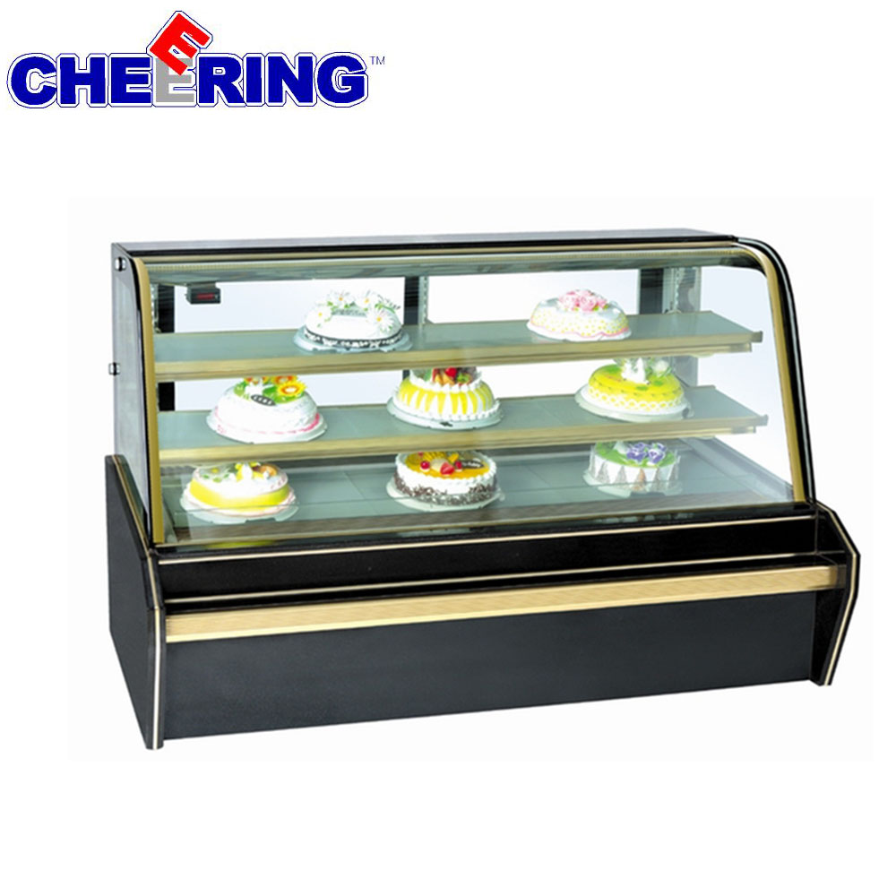 cake display Refrigerated cooler cabinet for Cold Bakery Pastry and Cake Display Case