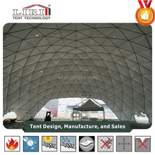Dia 30m Steel Frame And PVC Cover Dome Shaped Tents For Advertising