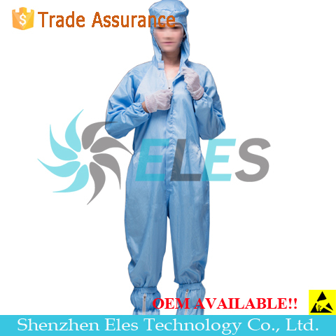 Over 100 Times Washing Class 1000 Autoclavable Cleanroom Coverall