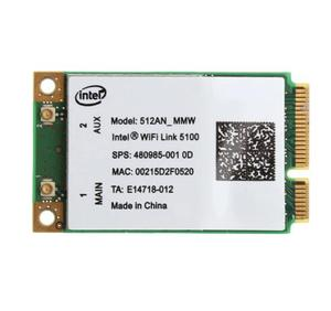 Intel 5100 WIFI 512AN_MMW 300M Mini PCI-E Wireless WLAN Card 2 4/5GHz