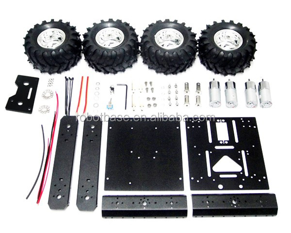 AS-4WD Aluminum Mobile Robotic Platform Car Chassis for Arduino