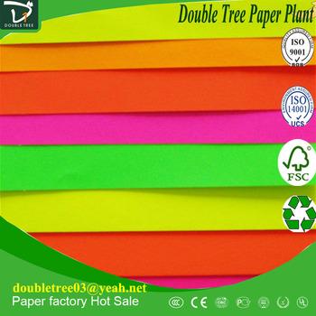 Self Adhesive Fluorescent Paper Sheets Fluorescent Sticker Paper