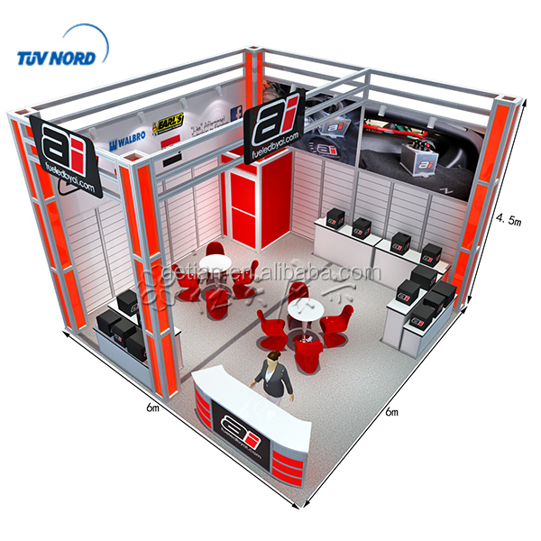 20x20 ft Simple Hooks wall Trade Show Display Booths for Exhibition Event Service