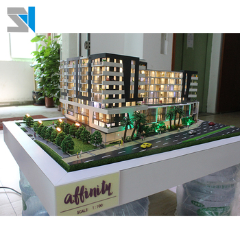 1100 Scale Apartment Model For Display Exhibit Led Light Architect Models