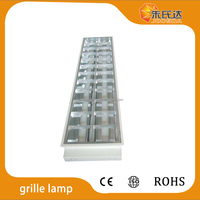 Energy Saving T8 Louver Fixture Durabe Fluorescent Grid Light