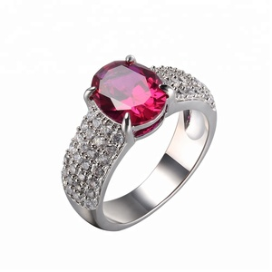 ruby ring 925 silver diamond ring rings jewelry women