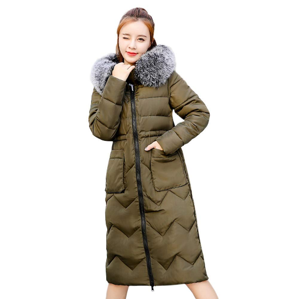 Clearance Ladies Winter Coat,ZYooh Down Jacket for Womens Fur Hooded Short Puffer Parka Outwear Tops