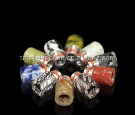 510 columnstyle wide bore jade stone high quality ecig drip tips from smokehookah tech