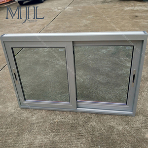 Powder coated office interior aluminium frame sliding glass window