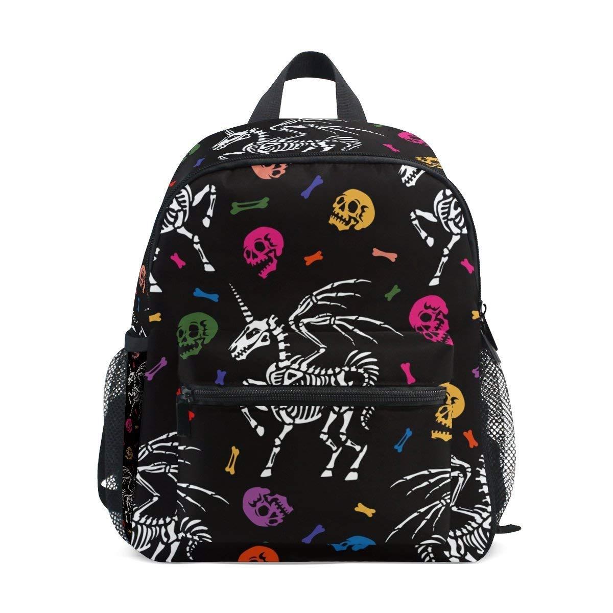 Unicorn Skull Backpack,Waterproof Bag Printing Design Fabric Lightweight Daypack for Travel, School and Sports Shoulder Bag
